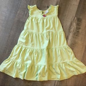 Hanna Andersson lime green dress